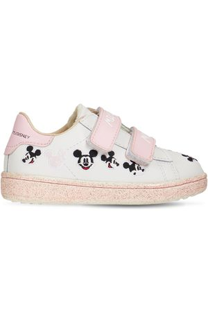 MOA MASTER OF ARTS Mickey Mouse Leather Strap Sneakers