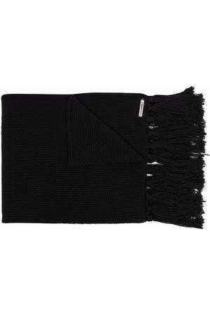 Les Hommes Fringe-detail wool scarf