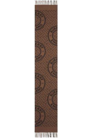 Burberry Tørklæder - Reversible check and monogram scarf