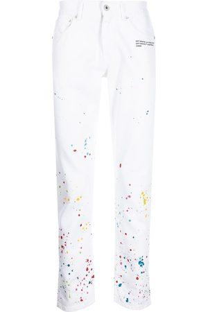 Off-White Mænd Slim - X Marais Splatter-jeans med smal pasform