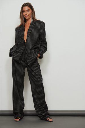 NA-KD Kvinder Bukser - Stribede højtaljede bukser