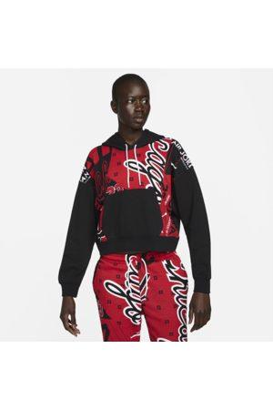 Nike Heldækkende Jordan-fleecehættetrøje med print til kvinder