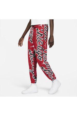 Nike Jordan-bukser i fleece med heldækkende print til kvinder