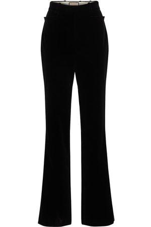 Gucci Soft Cotton Velvet Fluid Pants