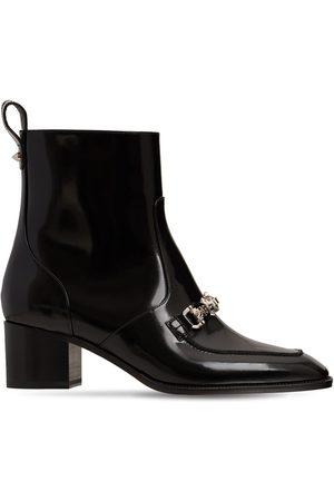 Christian Louboutin 55mm Mayerswing Brushed Leather Boots