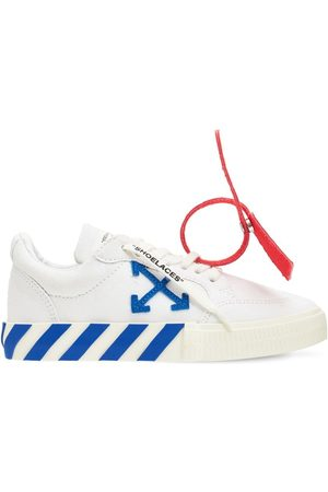 OFF-WHITE Lace-up Cotton Canvas Sneakers