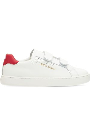 Palm Angels Logo Strap Leather Sneakers