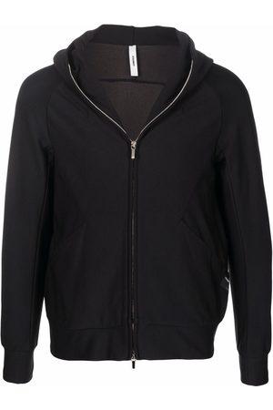 ATTACHMENT Zip-up pouch-pocket hoodie