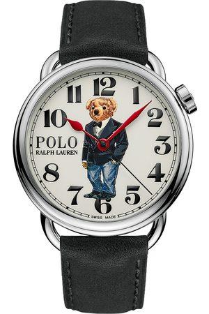 Polo Ralph Lauren Mænd Ure - 42mm Automatic Denim Tux Bear White Dial