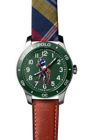 Polo Ralph Lauren Mænd Ure - 42mm Automatic Pony Player Green Dial