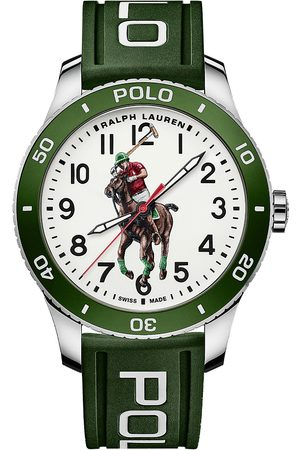 Polo Ralph Lauren Mænd Ure - 42mm Automatic Pony Player White Dial/Green Bezel