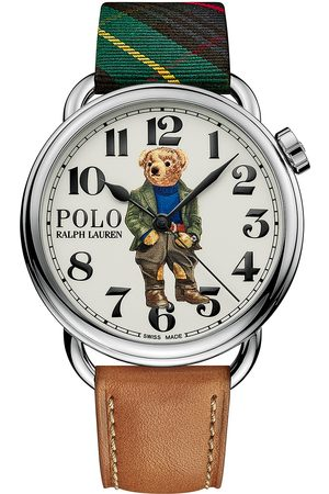 Polo Ralph Lauren 42mm Automatic Bedbord Bear White Dial