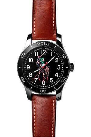 Polo Ralph Lauren Mænd Ure - 42mm Automatic Pony Player Black Dial