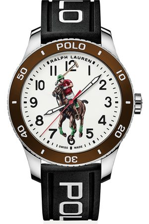 Polo Ralph Lauren 42mm Automatic Pony Player White Dial/Brown Bezel