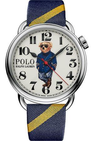 Polo Ralph Lauren Mænd Ure - 42mm Automatic Nautical Bear White Dial
