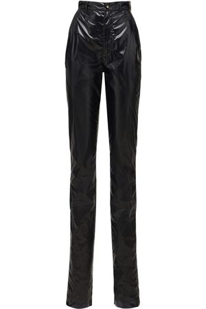 Dolce & Gabbana Laminated Vynil Effect Straight Pants