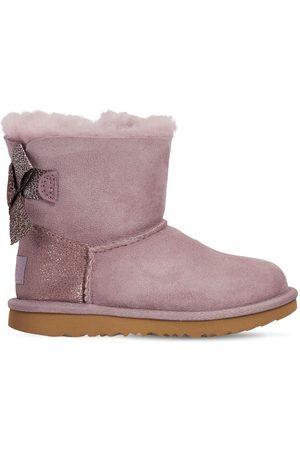 UGG Mini Bailey Bow Glitz Shearling Boots