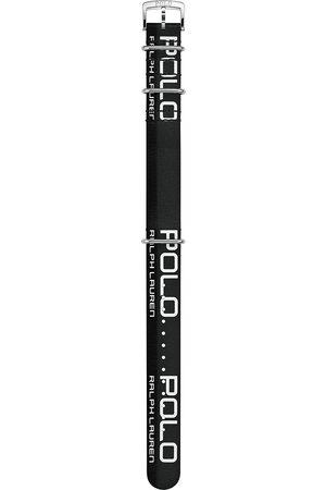 Polo Ralph Lauren Sporting Leather Strap Black/White