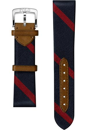 Polo Ralph Lauren Mænd Ure - Sporting Silk Strap Navy/Red