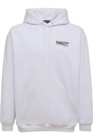 Balenciaga Mænd Sweatshirts - Political Logo Cotton Sweatshirt Hoodie