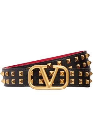 VALENTINO GARAVANI 30mm Logo Signature Leather Belt