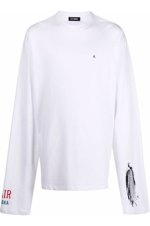 RAF SIMONS Mænd Langærmede - Long-sleeve cotton T-shirt