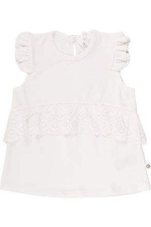 Green Cotton Top SS, Cozy Me Lace - Cream