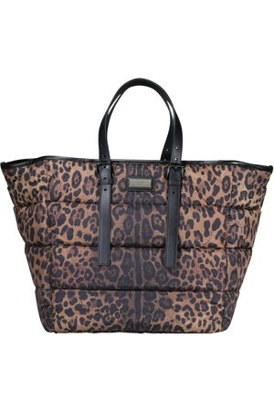 Dolce & Gabbana Mænd Stofposer - Leopard-print Sicily shopper in quilted nylon