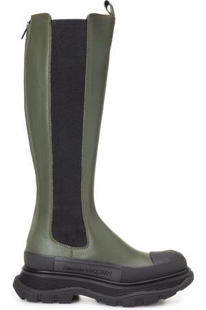 Alexander McQueen Tread Slick Knee High Boots
