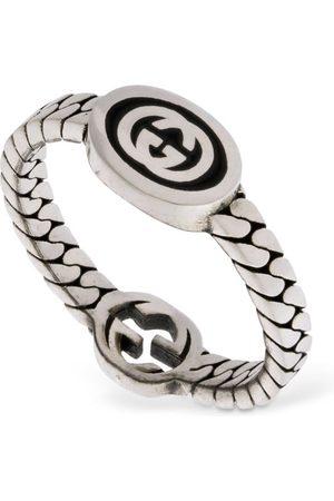 Gucci Kvinder Ringe - Thin Interlocking G Enamel Ring