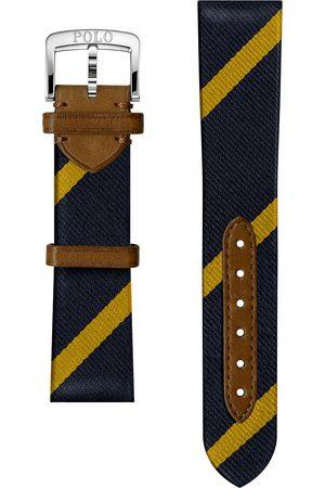 Polo Ralph Lauren Mænd Ure - Sporting Silk Strap Navy/Gold