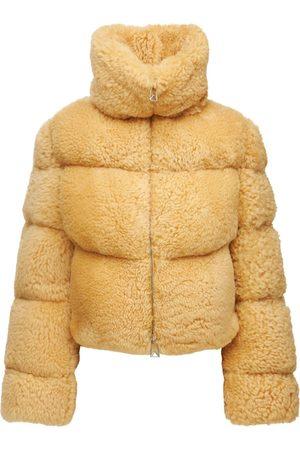 Bottega Veneta Kvinder Jakker - Quilted Padded Shearling Jacket