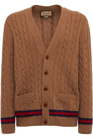 Gucci Cashmere & Wool Cable Knit Cardigan