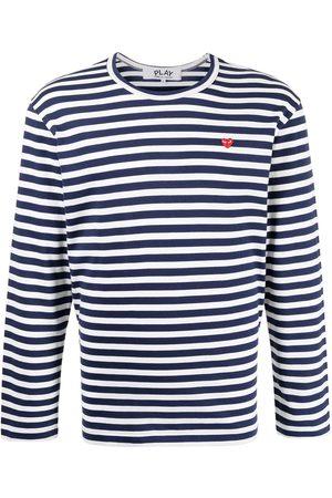 Comme Des Garçons Play Mænd Langærmede - Langærmet T-shirt med striber