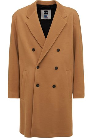 BOSS X RUSSELL ATHLETIC Dandos Double Breast Wool Blend Coat