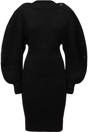 Bottega Veneta Shetland Double Wool Blend Mini Dress