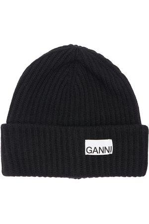 Ganni Kvinder Huer - Recycled Wool Blend Knit Beanie