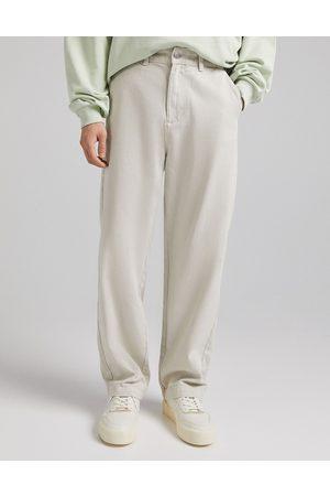Bershka Bukser med vide ben-Neutral