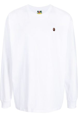 A Bathing Ape Mænd Langærmede - Logo-patch long-sleeve T-shirt