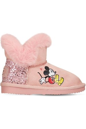 MOA MASTER OF ARTS Mickey Mouse Boots W/ Faux Fur