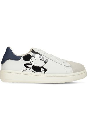 MOA MASTER OF ARTS Mickey Mouse Leather Lace-up Sneakers
