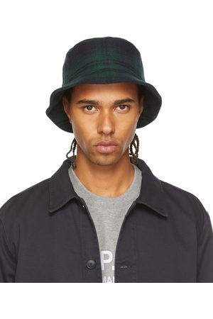 A.P.C. Green Check Alex Bucket Hat