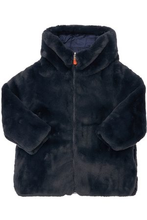save the duck Hooded Recycled Faux Fur Coat