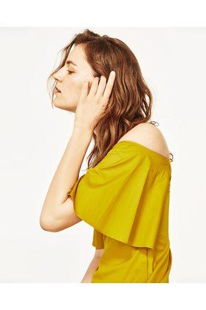 Kvinder Midikjoler - Zara OFF-THE-SHOULDER MIDI KJOLE