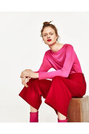 Kvinder Culottes bukser - Zara CULOTTER MED LYNLÅS I SIDEN